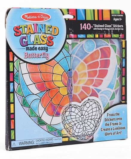 Melissa & Doug Stained Glass Made Easy Activity Kit Multicolor - 140 Stickers
