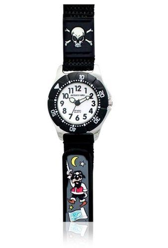38f8004bd Jacques Farel Kids Pirate 3D Strap Wristwatch Black for Girls (5-12 ...