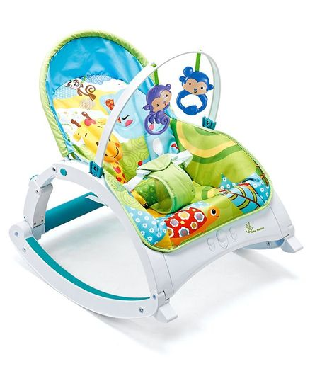 R for Rabbit Rock N Nap Baby Rocker - Green