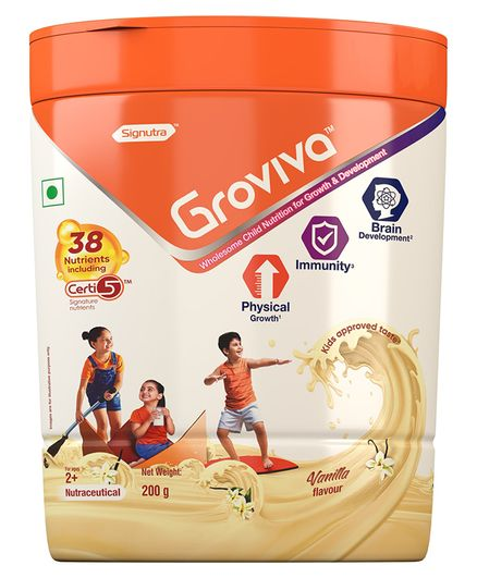 Groviva Child Nutrition Vanilla Flavour Supplement Jar - 200 gm
