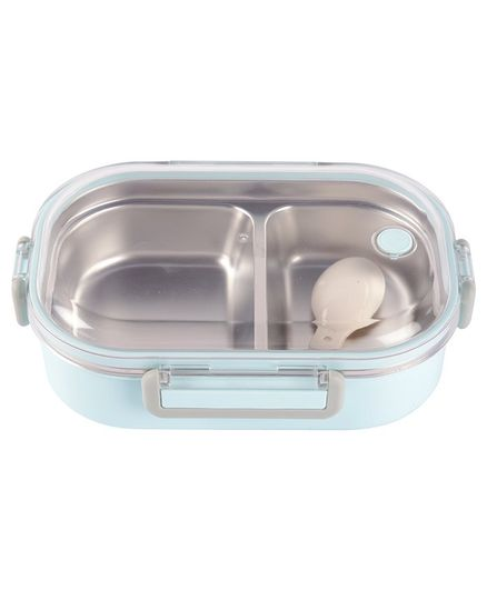 Yellow Bee Stainless Steel Lunch Box with Spoon - 650 ml