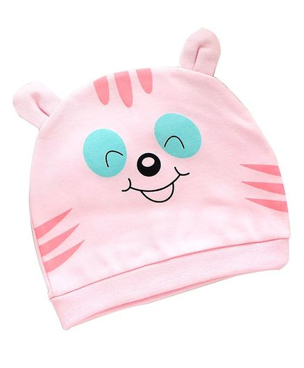 Syga Small Eye Design Cotton Cap - Pink