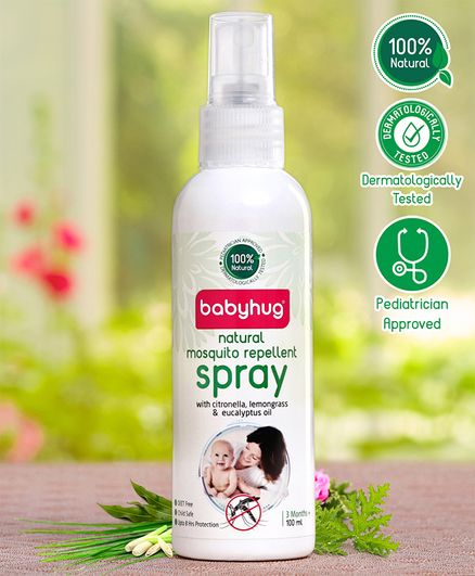 Babyhug 100% Natural Mosquito Repellent Spray - 100 ml