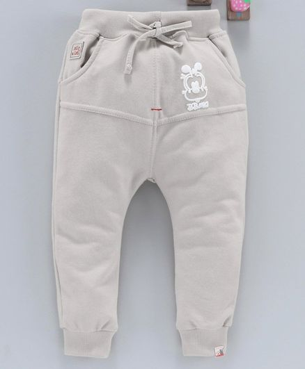 Olio Kids Full Length Jogger Pant With Drawstring - Light Grey