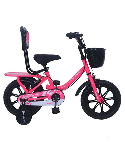 Ampa  Hey Miss Bicycle wth Basket Floro Pink - 14 Inch