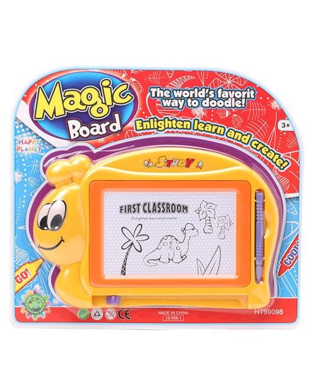 Magic Doodle  Board With Pen - Yellow