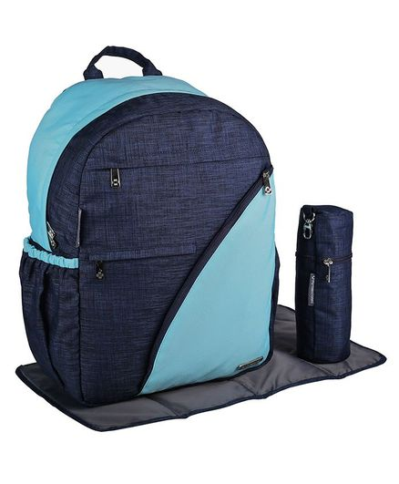 My Milestones Diaper Backpack Suave - Blue