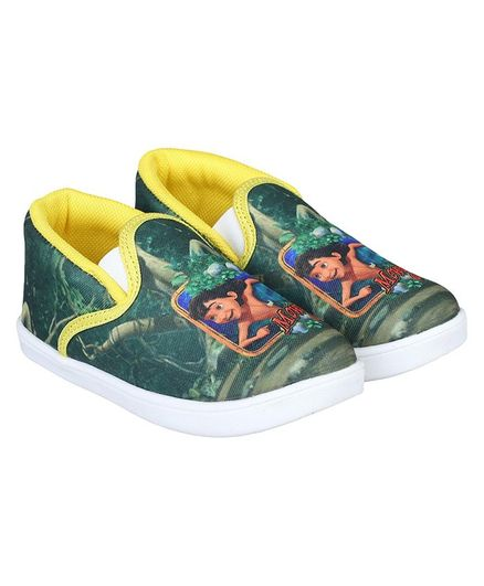 Buy JUNGLE BOOK BY DAXTEN Mowgli Printed Canvas Shoes Green