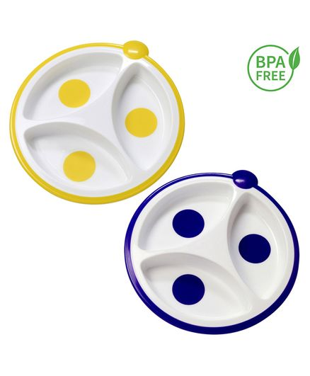 Dr Browns Designed To Nourish Divided Plate - Set of 2