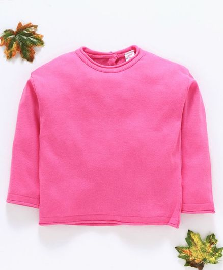 LC Waikiki Solid Full Sleeves Tee - Pink