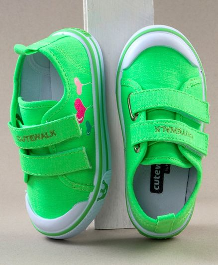 Cute Walk by Babyhug Solid Colour Casual Shoes - Green