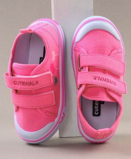 Cute Walk by Babyhug Solid Colour Casual Shoes - Pink