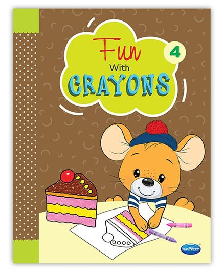 Fun with Crayons Colouring Book - 4  - English