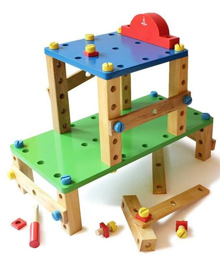 Shumee Wooden Construction Toy Set - Multicolor