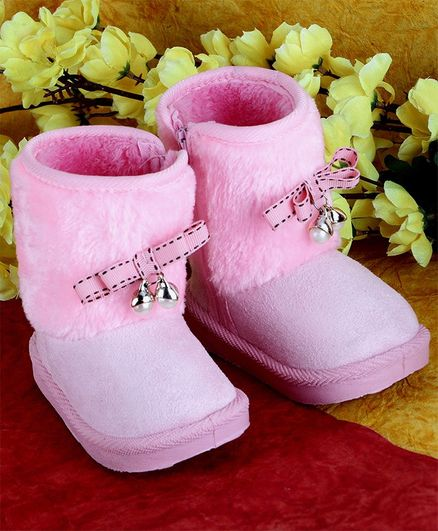 PASSION PETALS Bow Embellished Winter Boots - Pink