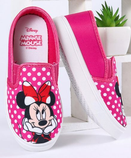 Disney Casual Shoes Minnie Mouse Print - Pink