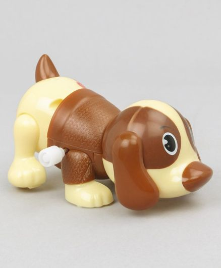 Puppy Shaped Wind Up Toy - Cream Brown