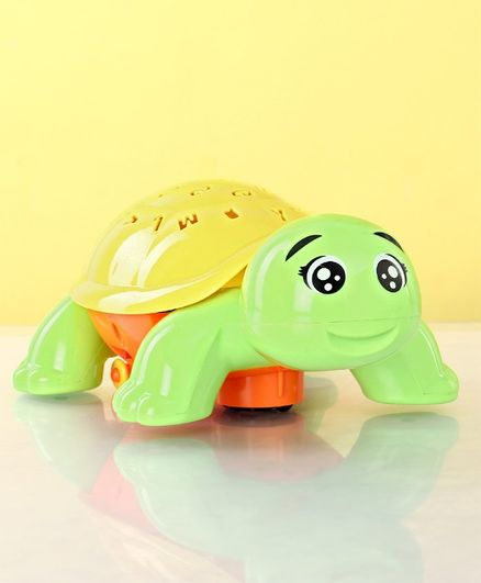 Musical Turtle Shaped Projector Toy - Green Yellow