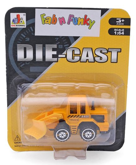Die Cast Free Wheel Construction Loader - Yellow