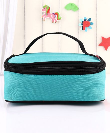 Babyhug Lunch Box Cover - Green Black