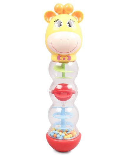 Hourglass Bell Rattle Toy  - Yellow