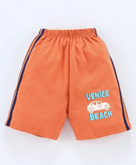 Taeko Shorts Car Print - Orange