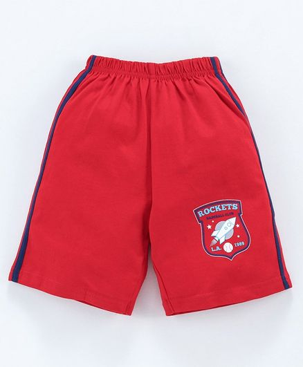 Taeko Shorts Baseball Club Logo Print - Red