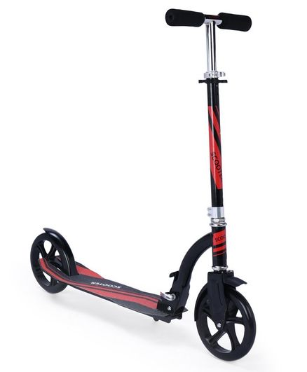 Gooyo Two Wheel Steel Foldable Scooter With Stand - Red Black