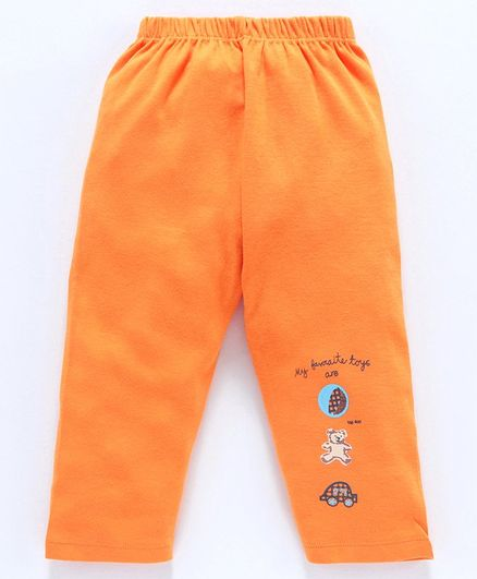 Tango Full Length Track Pant Ball Print - Orange