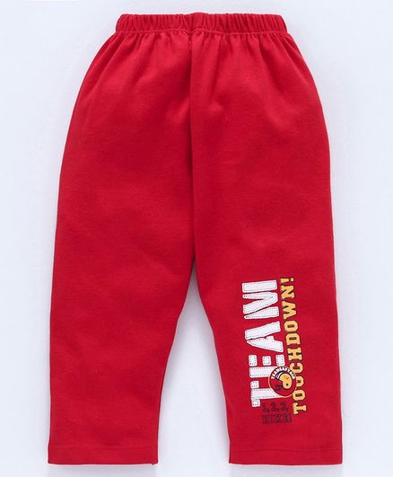 Tango Full Length Track Pant Text Print - Red