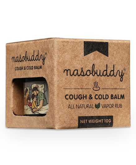 Nasobuddy Cough & Cold Balm Ayurvedic Medicine With 100% Pure Therapeutic Grade Essential Oils - 10 gm