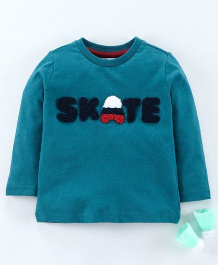 Minoti Skate Patch Full Sleeves T-Shirt - Blue