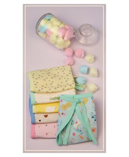 Lollipop Lane Foam Cushioned Cloth Diapers With Adjustable String - Pack of 6