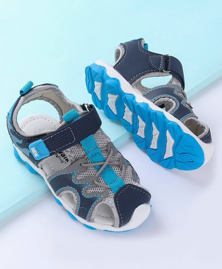 Cute Walk by Babyhug Closed Toe Sandal - Blue
