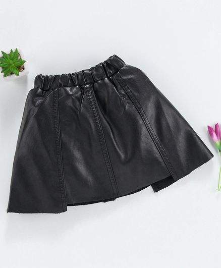 Kookie Kids Elasticated Waist Party Wear Skirt - Black