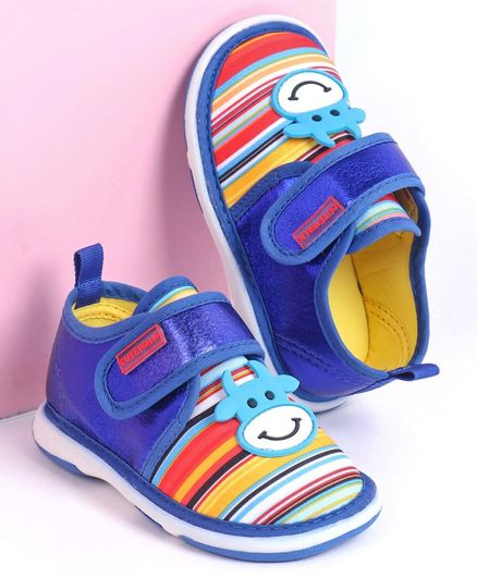 Cute Walk by Babyhug Casual Shoes Animal Patch - Royal Blue