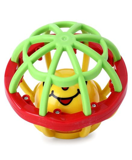 Mee Mee Mesh Activity Ball Rattle - Red Yellow Green