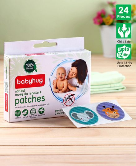 Babyhug Waterproof Natural Mosquito Repellent Patches - 24 Pieces