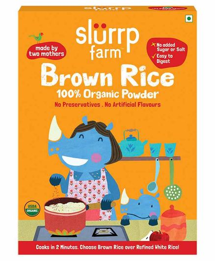 Slurrp Farm Organic Brown Rice Powder - 250 gm