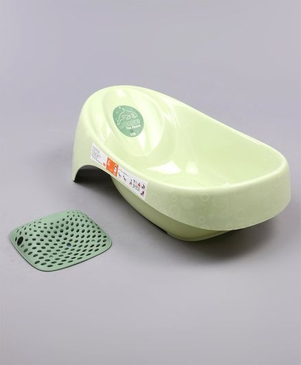 Baby Bath Tub With Anti Skid Base Medium  - Green