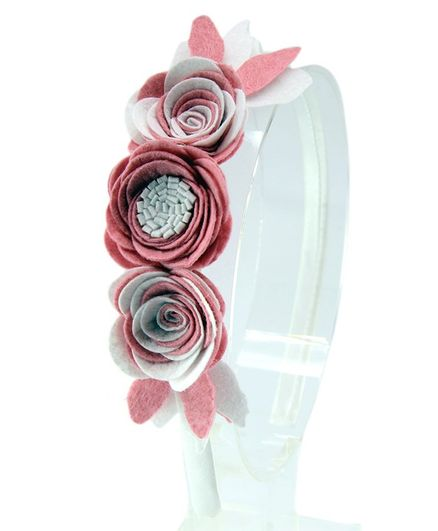 Aye Candy Flowers Design Hair Band - Pink