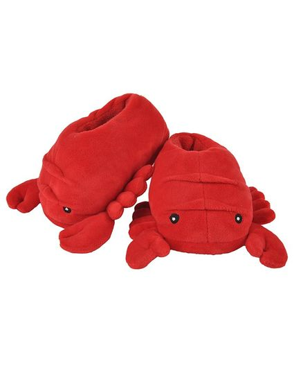 Yellow Bee Crab Plush Shoes - Red