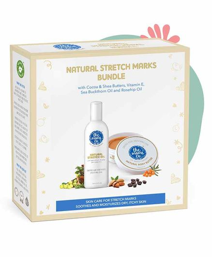 The Moms Co. 7 in 1 Natural Stretch Oil And Natural Body Butter For Preventing Stretch Marks - Combo Pack