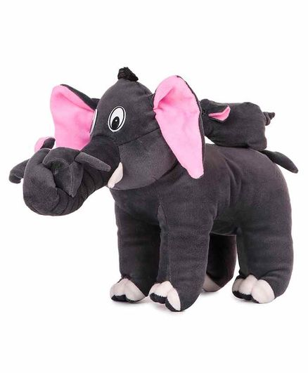 Deals India Mother Elephant With 2 Babies Soft Toy Grey - Height 32 Cm