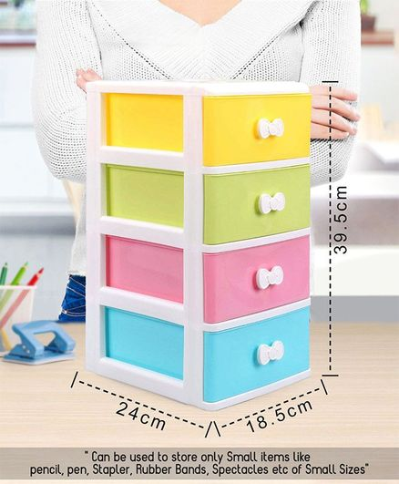 4 Compartments Chest of Drawers - Multicolor