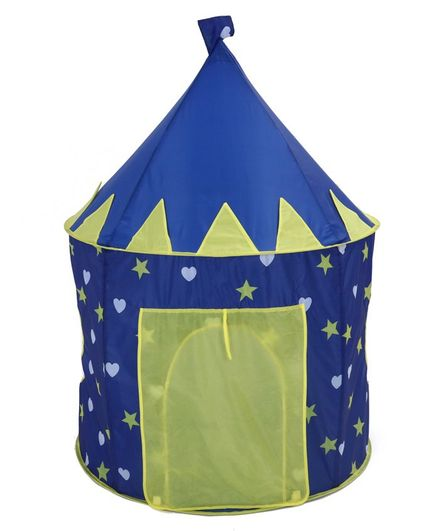 Star Printed Play Tent Blue - Height 128 cm