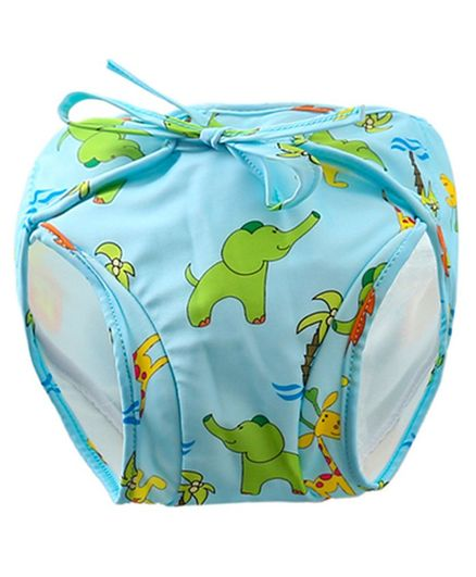 Kookie Kids Swim Diaper Elephant Print - Blue