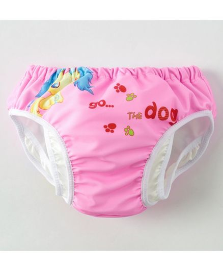 Kookie Kids Swim Diaper Puppy Print - Pink
