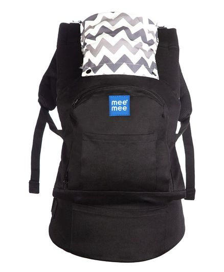 Mee Mee Baby Carrier With Padded Waistbelt - Black