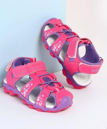 Babyhug Closed Toe Sandals - Fuchsia
